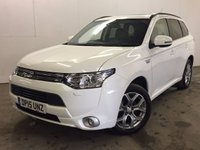 USED 2015 15 MITSUBISHI OUTLANDER 2.0 PHEV GX 4H 5d AUTO 162 BHP 4WD SAT NAV SUNROOF LEATHER ONE OWNER FSH 4WD. SATELLITE NAVIGATION. SUNROOF. STUNNING WHITE WITH FULL BLACK LEATHER TRIM. ELECTRIC HEATED SEATS. CRUISE CONTROL. 18 INCH ALLOYS. COLOUR CODED TRIMS. PRIVACY GLASS. PARKING SENSORS. REVERSING CAMERA. ELECTRIC TAILGATE. BLUETOOTH PREP. AIR CON. R/CD PLAYER. PADDLESHIFT AUTO. MFSW. MOT 08/18. ONE PREV OWNER. FULL DEALER SERVICE HISTORY. FCA FINANCE APPROVED DEALER. TEL 01937 849492