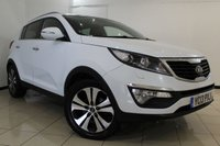 USED 2013 13 KIA SPORTAGE 1.7 CRDI 3 SAT NAV 5DR 114 BHP SERVICE HISTORY + HEATED LEATHER + SAT NAVIGATION + REVERSE CAMERA + BLUETOOTH + CRUISE CONTROL + AUXILIARY PORT + 18 INCH ALLOY WHEELS