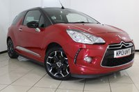 USED 2013 13 CITROEN DS3 1.6 DSTYLE PLUS 3DR 120 BHP FULL SERVICE HISTORY + AIR CONDITIONING + CRUISE CONTROL + AUXILIARY PORT + 17 INCH ALLOY WHEELS