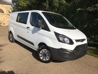 USED 2015 15 FORD TRANSIT CUSTOM 2.2 290 LR DCB 1d 99 BHP 6 SEAT CREW CAB WITH AIR CON, FULL FORD SERVICE HISTORY, JUST SERVICED BY BRISTOL STREET MOTORS