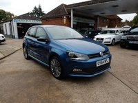 USED 2014 64 VOLKSWAGEN POLO 1.4 BLUEGT 5d 148 BHP ONE OWNER,VW HISTORY,TWO KEYS,CRUISE CONTROL