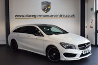 USED 2015 15 MERCEDES-BENZ CLA 2.1 CLA220 CDI AMG SPORT 5DR AUTO 174 BHP +  HALF LEATHER INTERIOR + SATELLITE NAVIGATION + FULL MERC SERVICE HISTORY + CLIMATE CONTROL + BI-XENON HEADLAMPS + PADDLE SHIFT GEARS + PARK ASSIST + 18 INCH ALLOY WHEELS +