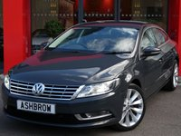 USED 2014 64 VOLKSWAGEN CC 2.0 TDI GT BLUEMOTION TECH 4d 140 S/S SAT NAV, FULL LEATHER INTERIOR, HEATED FRONT SEATS, FRONT & REAR PARKING SENSORS, DAB RADIO, BLUETOOTH PHONE & MUSIC STREAMING, 18 INCH 10 SPOKE ALLOYS, PRIVACY GLASS, HEADLAMP WASHERS, CRUISE CONTROL, LIGHT & RAIN SENSORS WITH AUTO DIMMING REAR VIEW, 1 OWNER FROM NEW, FULL VW SERVICE HISTORY.  £30 ROAD TAX (120 G/KM)