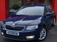 USED 2014 63 SKODA OCTAVIA ESTATE 1.6 TDI CR ELEGANCE 5d 105 S/S SAT NAV, LEATHER ALCANTARA UPHOLSTERY, DAB RADIO, BLUETOOTH PHONE & AUDIO STREAMING, REAR PARKING SENSORS WITH DISPLAY, AUX + USB INPUTS FOR IPOD / MP3, CRUISE CONTROL, DRIVING MODE SELECTION, VOICE COMMAND, LEATHER MULTI FUNCTION STEERING WHEEL, DUAL ZONE CLIMATE A/C, SPORT SEATS, ELECTRIC HEATED FOLDING DOOR MIRRORS, LIGHT & RAIN SENSORS WITH AUTO DIMMING REAR VIEW MIRROR. FULL SKODA SERVICE HISTORY, £0 ROAD TAX (99 G/KM)