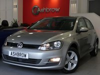 USED 2015 65 VOLKSWAGEN GOLF 1.6 TDI MATCH BLUEMOTION TECH 5d 110 S/S FRONT & REAR PARKING SENSORS WITH DISPLAY (PARK PILOT), ADAPTIVE CRUISE CONTROL (ACC), DAB RADIO, BLUETOOTH PHONE & MUSIC STREAMING, AUX & USB INPUTS, ELECTRIC HEATED FOLDING MIRRORS, LEATHER FLAT BOTTOM MULTI FUNCTION STEERING WHEEL, LIGHT & RAIN SENSORS WITH AUTO DIMMING REAR VIEW MIRROR, DRIVE SELECT, CD WITH SD CARD READER, AUTO HILL HOLD, AIR CONDITIONING, 1 OWNER FROM NEW, FULL VW SERVICE HISTORY, BALANCE OF MANUFACTURERS WARRANTY, £0 ROAD TAX (99 G/KM). VAT QUALIFYING