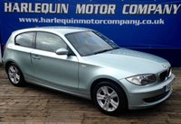 USED 2007 07 BMW 1 SERIES 2.0 118D SE 3d 141 BHP 2007 BMW 118 TURBO DIESEL 3 DOOR METALLIC PATAGONIA GREEN WITH CONTRASTING FULL BLACK HEATED LEATHER ALLOYS FULL SERVICE HISTORY LOW MILES