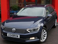 USED 2015 65 VOLKSWAGEN PASSAT ESTATE 2.0 TDI SE BUSINESS BLUEMOTION TECH 5d 150 S/S SAT NAV, FRONT & REAR PARKING SENSORS WITH DISPLAY (PARK PILOT), DAB RADIO, BLUETOOTH PHONE & MUSIC STREAMING, ADAPTIVE CRUISE CONTROL (ACC), LEATHER MULTIFUNCTION STEERING WHEEL, ELECTRIC HEATED FOLDING MIRRORS, LIGHT & RAIN SENSORS, KEYLESS START, AIR CONDITIONING, AUTO HILL HOLD, DRIVING MODE SELECT, AUX & USB INPUTS, 1 OWNER FROM NEW, FULL VW SERVICE HISTORY, £20 ROAD TAX