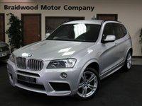 USED 2014 63 BMW X3 3.0 XDRIVE30D M SPORT 5d AUTO 255 BHP