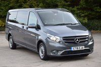 USED 2016 16 MERCEDES-BENZ VITO 2.1 114 BLUETEC TOURER PRO 6d 136 BHP 9 SEATER START STOP LWB AUTO DIESEL MINIBUS ONE OWNER S/H EURO 6 ENGINE