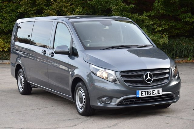 2016 16 MERCEDES-BENZ VITO 2.1 114 BLUETEC TOURER PRO 6d 136 BHP 9 SEATER START STOP LWB AUTO DIESEL MINIBUS ONE OWNER S/H EURO 6 ENGINE