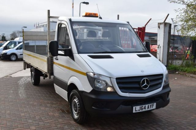 2014 64 MERCEDES-BENZ SPRINTER 2.1 313 CDI 2d 129 BHP RWD LWB TAIL LIFT DIESEL MANUAL DROPSIDE LORRY VAN ONE OWNER FULL S/H SPARE KEY