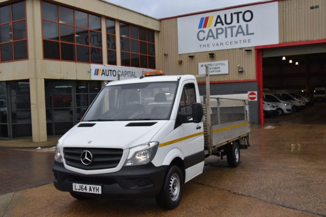 2014 64 MERCEDES-BENZ SPRINTER 2.1 313 CDI 2d 129 BHP LWB RWD TAIL LIFT DIESEL MANUAL DROPSIDE LORRY ONE OWNER FULL S/H SPARE KEY