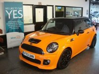 USED 2013 13 MINI HATCH COOPER 1.6 COOPER S 3d 184 BHP Fitted with bluetooth and start stop technology...This Mini Cooper is wrapped in orange with black roof/ mirror caps/wheels/grilles/headlight surrounds and Black cloth heated seats. It is fitted with power steering, John Cooper Works steering wheel and door inserts, remote locking, electric windows and mirrors, auto climate control, alloy wheels, CD Stereo, Usb and Aux port,  Xenon lamps and more. Its £135 to road tax. It offers superb performance It has had two private owners from new.
