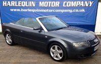 USED 2004 54 AUDI A4 2.5 TDI SPORT 2d 161 BHP WOW 2004 54 AUDI A4 2.5 TDi 6 SPEED MANUAL CONVERTIBLE IN METALLIC GREY WITH FULL SPORTS DARK GREY LEATHER PORTFOLIO OF SERVICE HISTORY INC RECENT CAM BELT AND WATER PUMP ELECTRIC CONVERTIBLE ROOF FULL SERVICE HISTORY REAR PARKING SENSORS