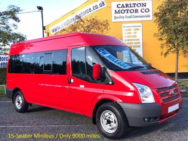 2014 14 FORD TRANSIT 350 LWB TDCi 135 15 SEAT MINIBUS # LOW MILEAGE # RWD FREE UK DELIVERY