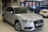USED 2013 13 AUDI A3 2.0 TDI SE 3d AUTO 148 BHP FULL SERVICE HISTORY +  SAT NAV + BLUETOOTH + £30 ROAD TAX + DAB RADIO + 16 INCH ALLOYS + HEATED FRONT SEATS + AIR CONDITIONING + DRL'S + ELECTRIC WINDOWS