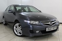 USED 2007 07 HONDA ACCORD 2.2 I-CTDI EXECUTIVE 4DR 140 BHP SERVICE HSITORY + HEATED LEATHER SEATS + SAT NAVIGATION + CLIMATE CONTROL + ELECTRIC SUNROOF + CRUISE CONTROL + MULTI FUNCTION WHEEL + 17 INCH ALLOY WHEELS