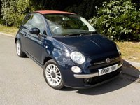 USED 2011 FIAT 500 0.9 C LOUNGE 3d 85 BHP *ZERO ROAD TAX!!* POWER ROOF*