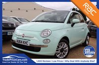 USED 2014 64 FIAT 500 1.2 LOUNGE 3d 69 BHP Bluetooth, Pan Roof & more