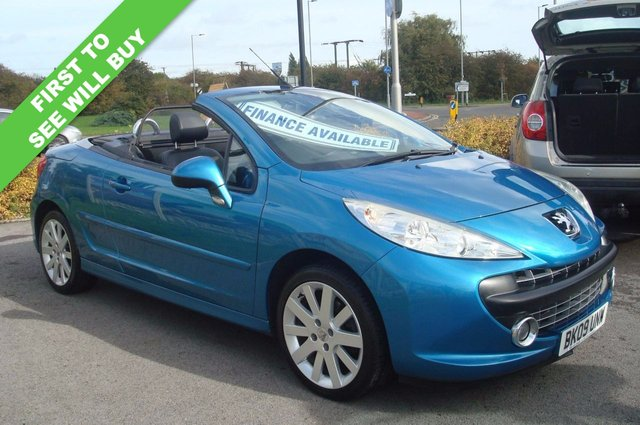 2009 09 PEUGEOT 207 1.6 GT COUPE CABRIOLET 2d 118 BHP FULL BLACK LEATHER