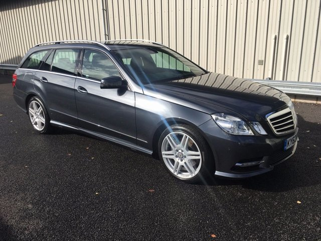 2012 62 MERCEDES-BENZ E CLASS E220 CDI BLUEEFFICIENCY AMG SPORT ESTATE, MANUAL, MAP PILOT