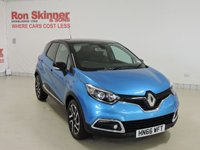 USED 2016 66 RENAULT CAPTUR 1.5 DYNAMIQUE S NAV DCI 5d 90 BHP with Black Roof Tahoe Blue with Black Roof
