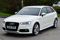 USED 2014 14 AUDI A3 1.4 TFSI S LINE 5d 139 BHP HIGH SPECFICATION | PCP AVAILABLE
