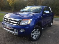 2013 FORD RANGER 2.2 LIMITED 4X4 DCB TDCI 1d 148 BHP FACELIFT LEATHER RUNNING BOARDS CARGO LINING NO VAT   £16900.00