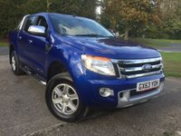 USED 2013 63 FORD RANGER 2.2 LIMITED 4X4 DCB TDCI 1d 148 BHP FACELIFT LEATHER RUNNING BOARDS CARGO LINING NO VAT   NO FINANCE REPAYMENTS FOR 2 MONTHS STC. NO VAT. 4WD FACELIFT MODEL. STUNNING BLUE MET WITH FULL BLACK LEATHER TRIM. ELECTRIC HEATED SEATS. CRUISE CONTROL. RUNNING BOARDS. AIR CON. 17 INCH ALLOYS. COLOUR CODED TRIMS. PARKING SENSORS. BLUETOOTH PREP. R/CD PLAYER. 6 SPEED MANUAL. MFSW. CARGO LINING. MOT 09/18. ONE PREV OWNER. FULL SERVICE HISTORY. FCA FINANCE APPROVED DEALER. TEL 01937 849492