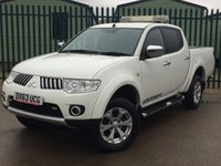 USED 2013 63 MITSUBISHI L200 2.5 DI-D 4X4 WARRIOR LB DCB 1d 175 BHP RUNNING BOARDS PRIVACY ONE OWNER FSH  NO FINANCE REPAYMENTS FOR 2 MONTHS STC. COMMERCIAL (£10900+2180VAT). 4WD. STUNNING WHITE WITH BLACK CLOTH TRIM. RUNNING BOARDS. CARGO LINING. LOAD COVER. CRUISE CONTROL. AIR CON. 17 INCH ALLOYS. COLOUR CODED TRIMS. PRIVACY GLASS. PARKING SENSORS. PAS. R/CD PLAYER. MFSW. TOWBAR. MOT 09/18. ONE OWNER FROM NEW. FULL SERVICE HISTORY. FCA FINANCE APPROVED DEALER. TEL 01937 849492