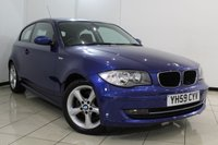 USED 2009 59 BMW 1 SERIES 2.0 116I SPORT 3DR AUTOMATIC 121 BHP FULL BMW SERVICE HISTORY + AIR CONDITIONING + PARKING SENSOR + MULTI FUNCTION WHEEL + RADIO/CD + 17 INCH ALLOY WHEELS