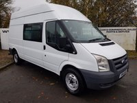 2011 FORD TRANSIT  350 2.4 LWB H/R RWD 5 DOOR 6 SPEED MESS UNIT 70 VANS IN STOCK £6550.00