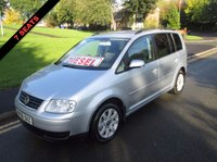USED 2006 06 VOLKSWAGEN TOURAN 1.9 SE TDI 7 STR 5d 103 BHP £500 MINIMUM PART EXCHANGE BALANCE PRICE SHOWN