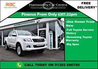 USED 2014 64 TOYOTA HI-LUX 3.0 INVINCIBLE 4X4 D-4D DCB 169 BHP TOYOTA WARRANTY UNTIL 12/2017