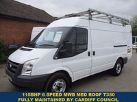 2011 FORD TRANSIT 115 350 MWB MEDIUM ROOF FROM CARDIFF COUNCIL £6545.00