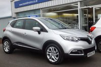 "USED 2014 64 RENAULT CAPTUR 1.0 TCE  DYNAMIQUE  MEDIANAV  5d (90 bhp) .....(GENUINE 4,000 mls. only)  £30 Road tax.  ONE OWNER.  FULL RENAULT SERVICE HISTORY.  CLIMATE CONTROL. SAT.NAV. CRUISE CONTROL. 17"" ALLOY WHEEELS."
