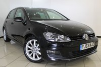 USED 2013 63 VOLKSWAGEN GOLF 2.0 GT TDI BLUEMOTION TECHNOLOGY 5DR 148 BHP FULL SERVICE HISTORY + AIR CONDITIONING + PARKING SENSOR + BLUETOOTH + CRUISE CONTROL + MULTI FUNCTION WHEEL + DAB RADIO + 17 INCH ALLOY WHEELS