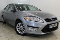 USED 2012 12 FORD MONDEO 1.6 ZETEC TDCI 5DR 114 BHP FULL SERVICE HISTORY + CLIMATE CONTROL + CRUISE CONTROL + MULTI FUNCTION WHEEL + RADIO/CD + 16 INCH ALLOY WHEELS