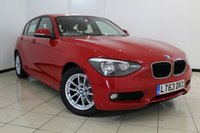 USED 2013 63 BMW 1 SERIES 1.6 116D EFFICIENTDYNAMICS 5DR 114 BHP BMW SERVICE HISTORY + HEATED CLOTH SEATS + PARKING SENSOR + BLUETOOTH + CRUISE CONTROL + MULTI FUNCTION WHEEL + DAB RADIO + 16 INCH ALLOY WHEELS