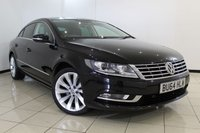 USED 2014 64 VOLKSWAGEN CC 2.0 GT TDI BLUEMOTION TECHNOLOGY 4DR 138 BHP FULL VW SERVICE HISTORY + HEATED LEATHER SEATS + CLIMATE CONTROL + SAT NAVIGATION + BLUETOOTH + CRUISE CONTROL + MULTI FUNCTION WHEEL + PARKING SENSOR + ALLOY WHEELS