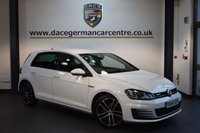 USED 2014 64 VOLKSWAGEN GOLF 2.0 GTD DSG 5DR AUTO 182 BHP + FULL VW SERVICE HISTORY + SATELLITE NAVIGATION + FULL LEATHER INTERIOR + HEATED SPORTS SEATS + PADDLE SHIFT GEARS + CRUISE CONTROL + 17 INCH ALLOY WHEELS +