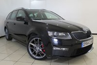 USED 2014 64 SKODA OCTAVIA 2.0 VRS TDI CR 5DR 181 BHP SERVICE HISTORY + HALF LEATHER SEATS + CLIMATE CONTROL + BLUETOOTH + MULTI FUNCTION WHEEL + AUXILIARY PORT + ALLOY WHEELS