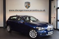 USED 2014 63 BMW 1 SERIES 2.0 118D URBAN 5DR AUTO 141 BHP + BUISNESS SATELLITE NAVIGATION SYSTEM + FULL BMW SERVICE HISTORY + HALF LEATHER INTERIOR + HEATES SPORTS SEATS + DAB TUNER + 17 INCH ALLOY WHEELS +
