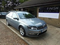 USED 2013 13 VOLKSWAGEN PASSAT 1.6 S TDI BLUEMOTION TECHNOLOGY 5d 104 BHP 1 OWNER FROM NEW, £30 ROAD TAX, 2 KEYS, CAMBELT AND WATER PUMP DONE
