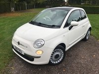 2011 FIAT 500 1.2 LOUNGE 3d 69 BHP, Full Service History, Immaculate Example £4349.00