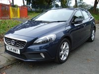 USED 2014 14 VOLVO V40 CROSS COUNTRY 1.6 D2 LUX 5d 113BHP FSH 4STAMPS+FULL LEATHER SEATS