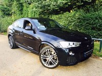 USED 2015 64 BMW X4 2.0 XDRIVE20D M SPORT 4d AUTO 188 BHP OVER £6000 WORTH OF EXTRAS! Balance Of Service Plan Till 2020! 360 Reversing Camera, Electric Memory Seats, Sat Nav, Harmon Kardon