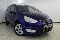 USED 2013 63 FORD GALAXY 2.0 TITANIUM TDCI 5DR AUTOMATIC 138 BHP FULL SERVICE HISTORY + 7 SEATS + SAT NAVIGATION + PARKING SENSOR + BLUETOOTH + CRUISE CONTROL + MULTI FUNCTION WHEEL + 17 INCH ALLOY WHEELS