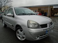 USED 2006 06 RENAULT CLIO 1.1 CAMPUS SPORT 16V 3d 75 BHP GREAT VALUE+CHEAP TO INSURE