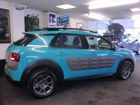 USED 2015 15 CITROEN C4 CACTUS 1.2 PURETECH FEEL S/S 5d 109 BHP Superb model with such cool features-touch screen media/control screen,air conditioning,graphite alloys-ONLY 22,000 miles-£20 road Tax,cheaper insurance rating-great smooth drive with plenty of Zip and £500 Min part exchange against this car leaves a balance to pay after Min allowance of only £7999
